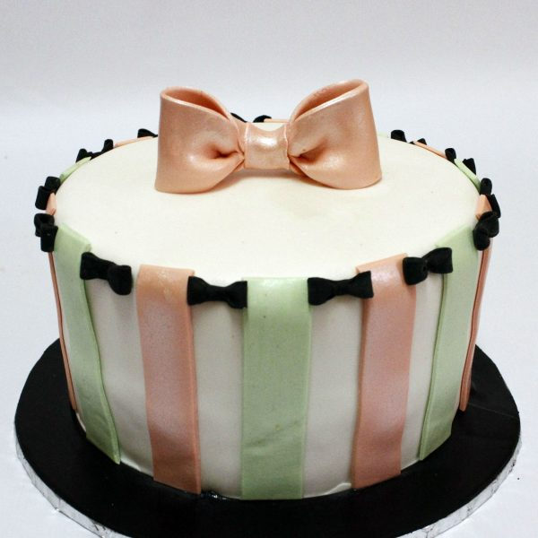 Bows n Stripes cream